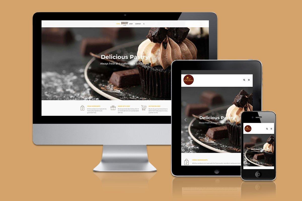 sweet edelweiss responsive website